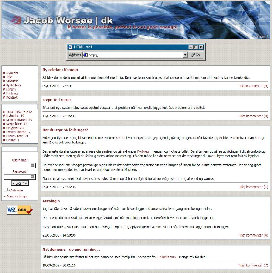 Første version af jacobworsoe.dk handlede slet ikke om digital marketing, men jeg har arbejdet med webudvikling siden 2003.
