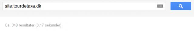 Da jeg opsatte 301'eren indeholdte sitet 349 url'er.